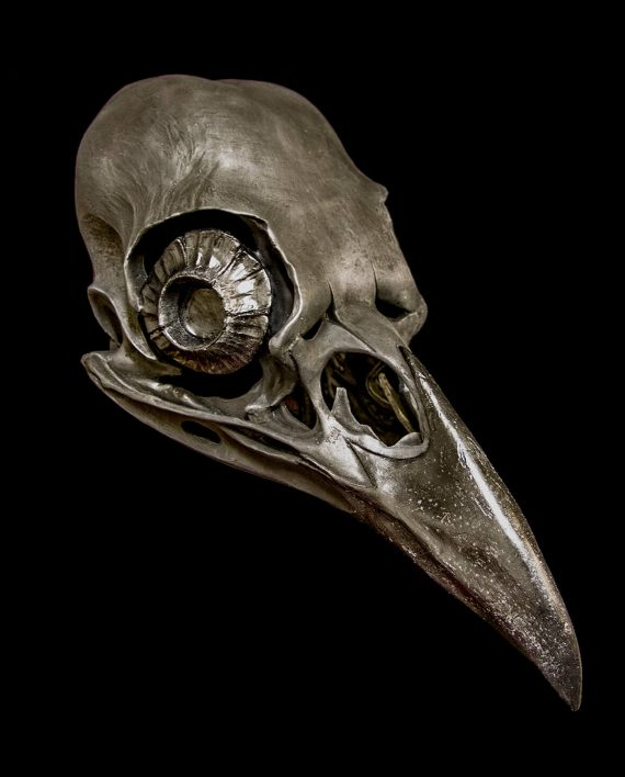 crow skull mask Black